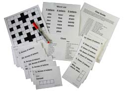 Sequenced Crossword Puzzles for Dementia and Alzheimers