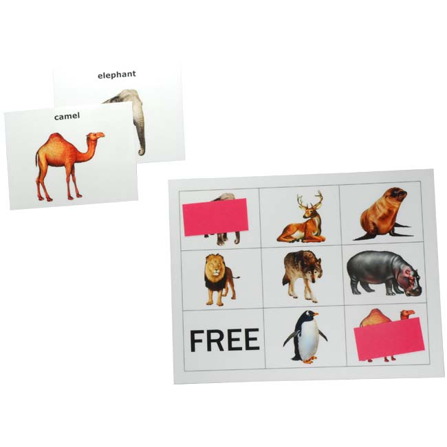 Animal picture bingo activity for dementia
