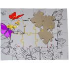 Butterflies Adult Coloring Puzzle - Partially Colored