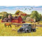 Blue Truck Farm Sequenced Jigsaw Puzzle