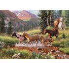 Horse Stream Sequenced Jigsaw Puzzle