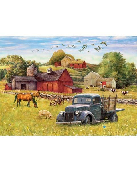 Puzzles Games for Dementia and Alzheimers for Older Adults Keeping Busy Red Barn Farm 35 Piece Sequenced Jigsaw Puzzle Engaging Activities