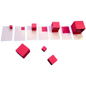Use the cards to sort the cubes by size