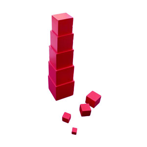Start stacking the cubes vertically