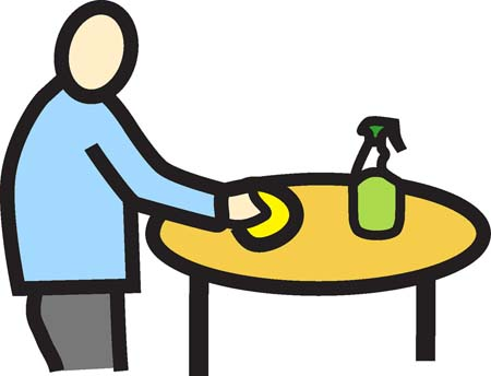 Cleaning table role for dementia
