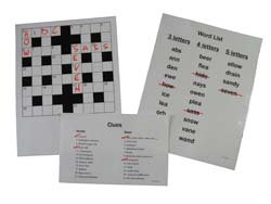 Sequenced Crossword Puzzle for dementia