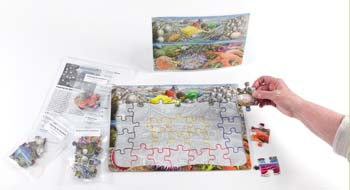 Doing a Sequenced Jigsaw for Dementia