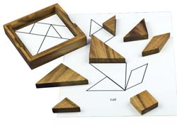 Tangram puzzle for dementia